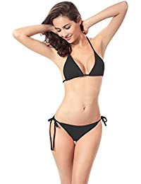 Demarkt Charmant Bikini Triangle Push-Up Maillots de Bain Soutien-Gorge Culotte Plage Set Deux Pièces