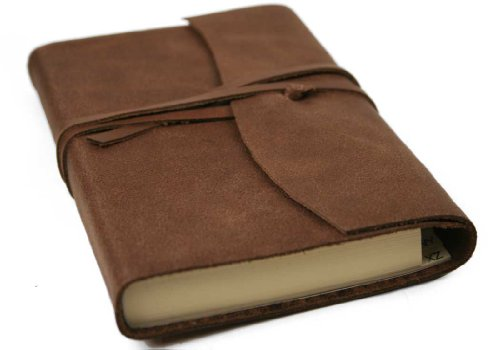 Capri Adressbuch Handgefertigt mit Ledereinband Schokobraun Small (13cm x 9cm x 2cm)