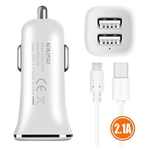 IDUSD Cargador Coche USB USB C 2.1A Coche Mechero