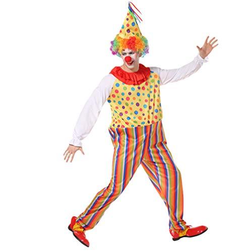 Haobing Unisex Clown-Kostüm Fasching Halloween Karneval Kostüm Cosplay Maskerade Fancy Dress (M-0133, One ()