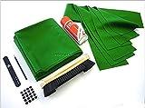 Hainsworth - Telo per Tavolo da Biliardo da 2,13 m, con Kit di Riparazione, Colore Verde/Oliva