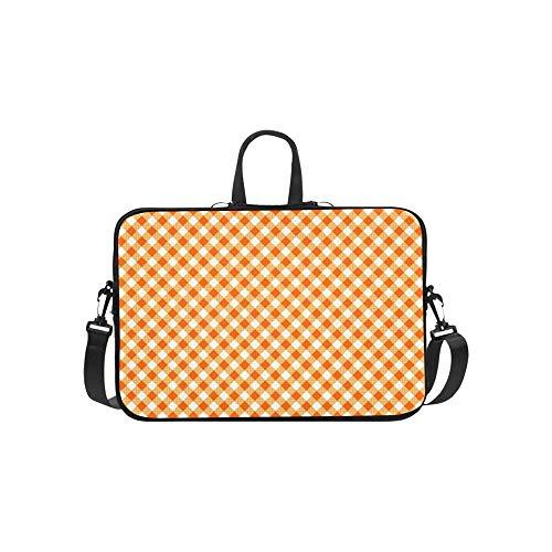Cute Orange Lattices Pattern Briefcase Laptop Bag