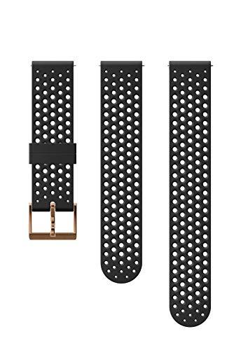 Suunto  Ersatz-Uhrenarmband, für alle Suunto 3 Fitness Uhren, Silikon, Länge: 21,7 cm, Stegbreite: 20 mm, Schwarz/Kupferfarben, Inkl. Stifte zur Montage, SS050215000