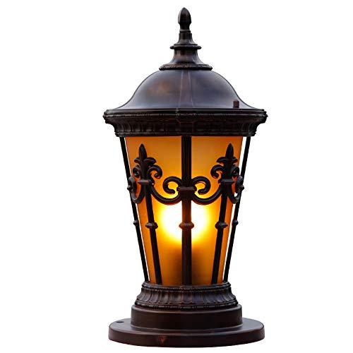 Perle des Orients-Pfosten-Lichtes mit getöntem Glas Europäische Spalten-Lampen-Tür-Pfosten-im Freien wasserdichte Garten-Licht-Rasen-Patio-Straßen-Laterne
