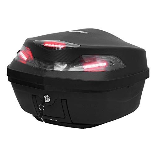 Aufbewahrungsbox Christbaumkugeln.Vistaric 48l Moto Scooter Top Box Topbox Posteriore Bagagli Storage W Led Light Universale