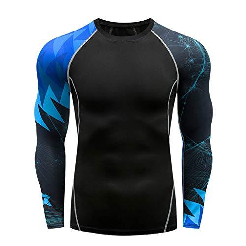 serliyHerren Langarm Funktionsshirt | Atmungsaktiv | Sport | Fitness | Unterhemd | Unterwäsche |Sportbekleidung Kompressionshose Lang Trainingsanzug Atmungsaktiv Fitness für Laufen Radfahren Yoga -