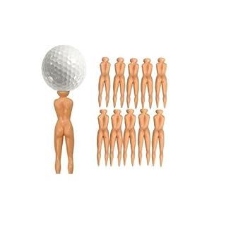 Nackte Damen Golf-Tees Packung mit 10 nackten Golfer Bälle Geschenk von AoE Performance-