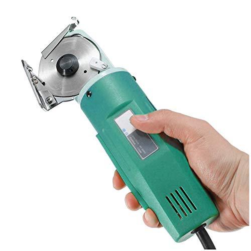 WooBrit Elektrische Stoff Schere Runde Messer Schneidwerkzeuge, Fabric Electric Scissors, 170W Cloth Cutting Machine Tuch Drehmesserschere Achtkantmesser Rotary Cutter Tool