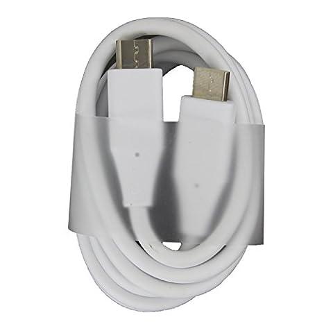 LG véritable Blanc usb-c à usb-c 2.0Câble pour appareils USB Type C, y compris le Nouveau Macbook, Chromebook Pixel, Nexus 5x, Nexus 6P, Nokia N1Tablette, OnePlus One 2, OnePlus 3, Huawei P9, Samsung Galaxy Note 7Micro Chargeur USB (sans emballage)