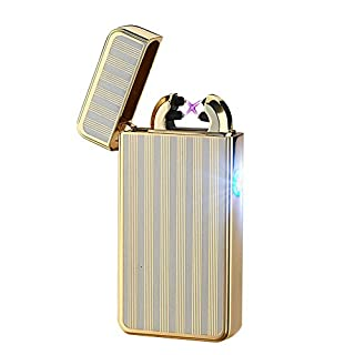Alxcio Double Arc Elecronic USB Rechargeable Cigarette Lighter - No Gas - Windproof - Flameless Style 4