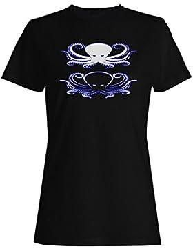 Nuevo Pulpo Icono Diseño De Arte camiseta de las mujeres h529f