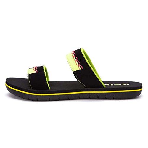 ZXCV Scarpe all'aperto Uomini sulla spiaggia sandali all'aperto sandali aperti da uomo Verde