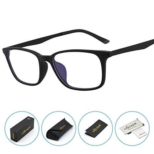 GQUEEN Blaues Licht, das Computer-Gläser, Antiblendung, Anti-Augenermüdungmit TR90 mattem Rahmen-transparenter Linse, GQ61