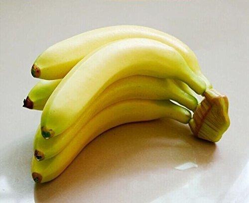Musuntas 5PCS banane Kunstobst Obst Dekoobst Deko künstliches Obst -