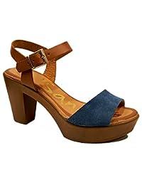 Oh my Sandals - Sandalia de tacón - Azul Marino - 3689