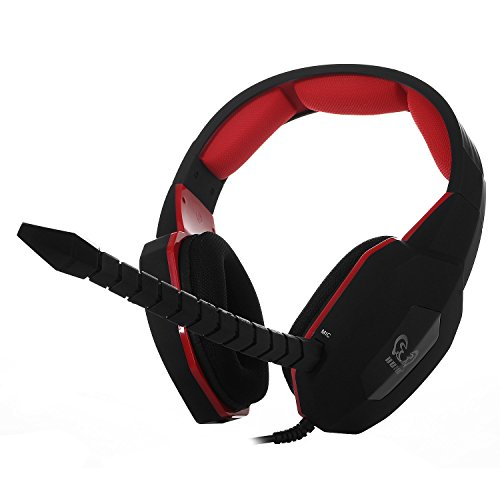 HAMSWAN® HUHD Stereo Gaming Headset Wired für Pro Gamer mit Plug-In Mikrofon USB 2.0Für PS4/PS3/Xbox 360/PC/MAC auch kompatibel mit Xbox One (Wenn Sie bereits haben eine Microsoft Adapter oder Kinect)