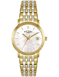 Rotary Women's Quartz Mother of Pearl Mother of Pearl Dial Analogue Display and Two Tone Stainless Steel Bracelet LB02623/41