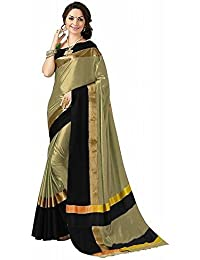 High Glitz Fashion Cotton Saree With Blouse Piece (HGF1388_Multi-Coloured_Free Size)