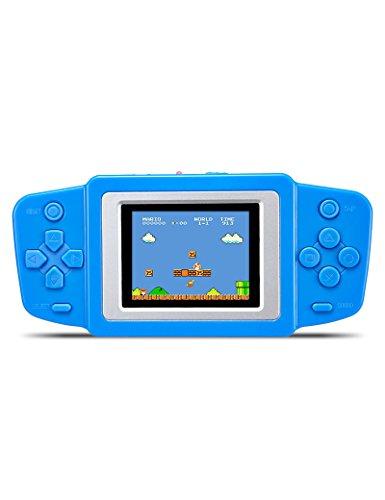 Mario Bros Handheld-spiel Super (CZT Spielkonsole, 6,3cm/2,5 Zoll Handheld Retro-Game-Player mit 268Spielen, tragbare Kinder-Spielkonsole, ideales Geschenk für Kinder, Li-Polymer-Akku oder Dry-Akku)