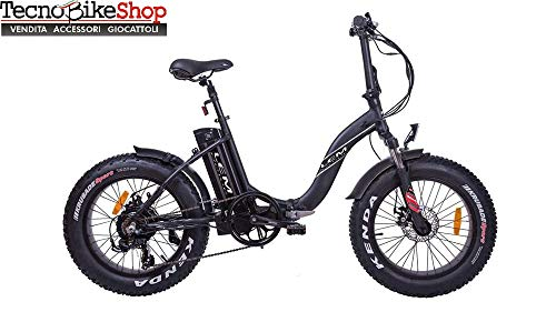 Tecnobike Shop Bici Elettrica E-Bike Pieghevole LEM Fat-Bike Folding F 250W 36v Litio (Nero)
