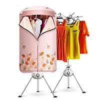 Round Easy Folding Small Dryer, Power Saving Mute Baby Clothes Warm Air Fast Drying Dry Clothes Hanger