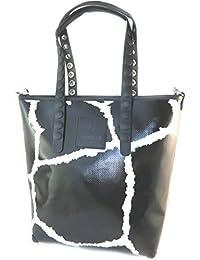 Bag schöpfer 'Gabs'schwarz weiß (m)- 34x30x11 cm.