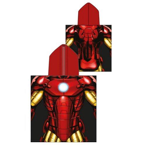 Boy 's Iron Man Super Weiche Baumwolle Kapuzen Poncho Badetuch