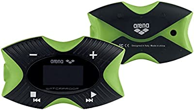 Arena Swimming MP3 Pro - Reproductor MP3 (MP3, Flash-media, Negro, Verde, USB 2.0, OLED, FM)