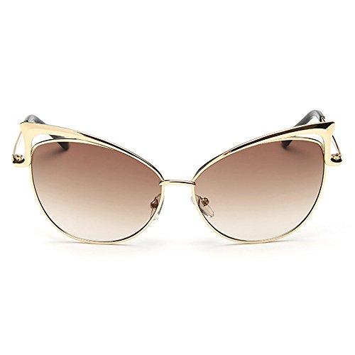 RAQ Sonnenbrille Katzenauge Pilz Brille Metall Hohl Mode Sonnenbrille Avantgarde unregelmäßiges Auge (Farbe : Q)