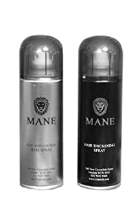 mane coloured hair thickening spray black 200ml with seal