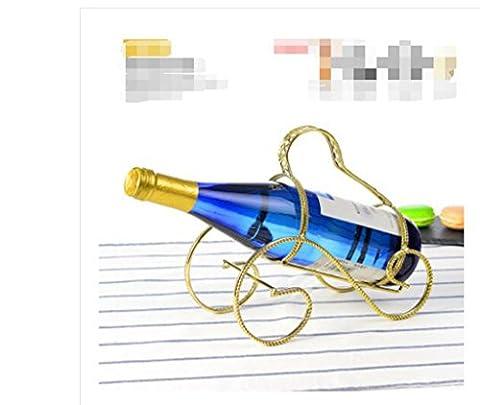 l'ameublement de style, casier à vin en fer forgé créatif, ornements, porte-bouteille de vin de style européen, casier à vin rétro