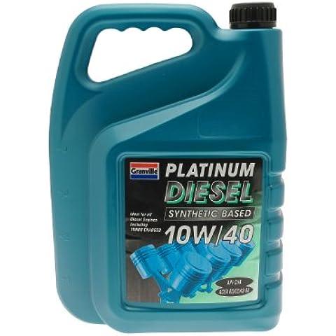 Granville 0438 Platinum - Aceite sintético de motor diesel (10W-40, 5 l)