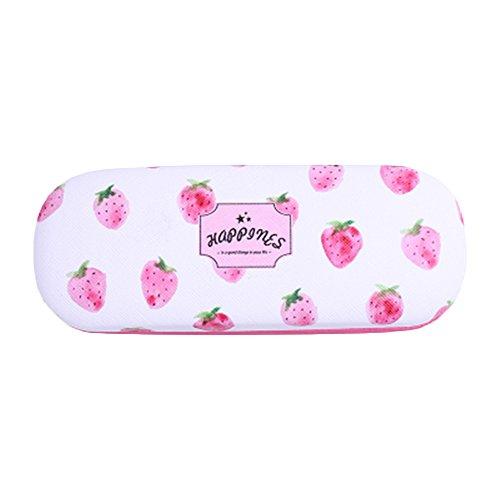TREESTAR Brillenetui, stoßfest, tragbar, mit Aufdruck von Früchten, Schutzbrille, Box für Ladies...