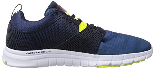 Reebok Zquick Dash City, Chaussures de course homme Bleu - Blau (Batik Blue/Faux Indigo/White/Solar Yellow)