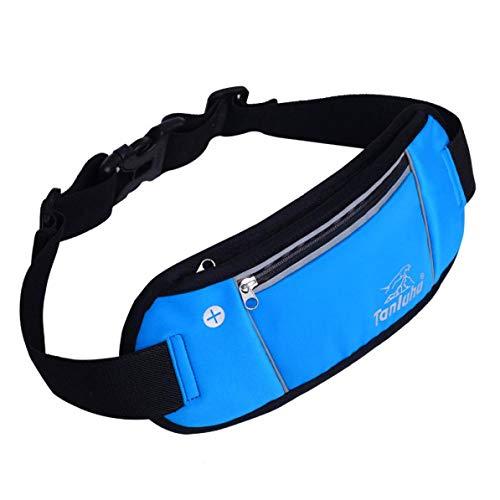 AWJ08 Ultraleichte Sporttasche Lauftasche Jogging Taille Tasche Wasserdicht Radfahren Klettern Camping Handy Tasche Anti-Diebstahl-Gürtel Packs - blau (Nike Gürtel Wasser)