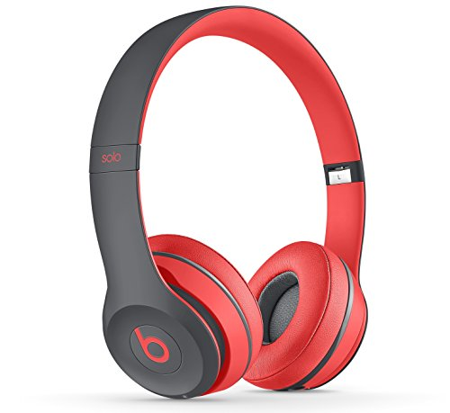Beats by Dr. Dre Solo2 - Auriculares in-ear, Rojo/Gris