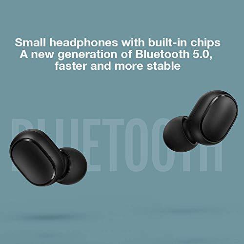Xiaomi Redmi Airdots, TWS Wireless Bluetooth 5.0 Headphones Charging Box True Stereo Sound Wireless Bluetooth Headphones with Microphone Hands-Free Headphones AI Control black - 7