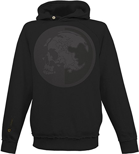 Musterbrand Metal Gear Solid Hoodie Men MSF Stealth Operative Skull Sweater Sweatshirt Black