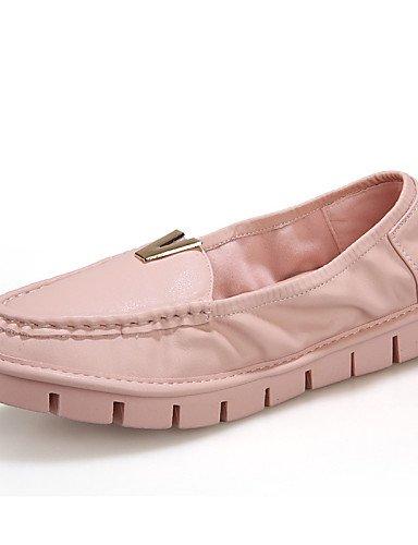 ZQ gyht Scarpe Donna-Mocassini-Tempo libero / Formale / Casual-Comoda-Piatto-Microfibra-Rosa / Bianco , pink-us8 / eu39 / uk6 / cn39 , pink-us8 / eu39 / uk6 / cn39 white-us7.5 / eu38 / uk5.5 / cn38