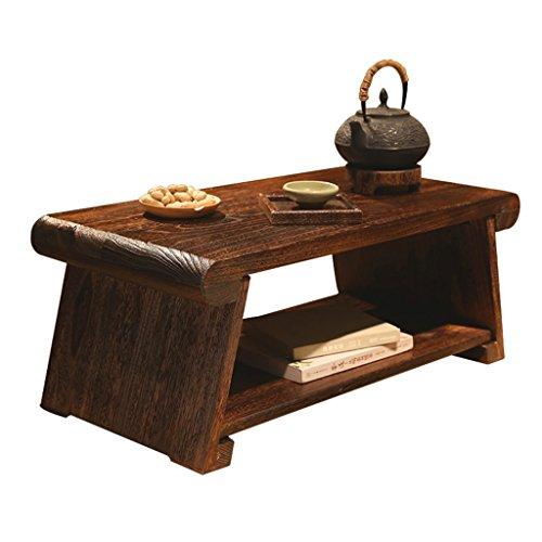 Brilliant firm Mesas Mesas de Comedor Tatami Mesa de té pequeña Mesa balcón casa Madera Plegable Mesa de Ventana (Color : Brown, Size : 80 * 40 * 33cm)
