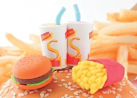 Iwako Japanese Erasers - Fast Foods Hamburger