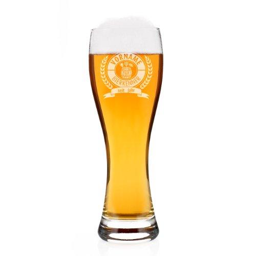 Leonardo Weizenglas Maxima - Motiv: Bierkenner - Gratis Gravur mit Namen und Geburtsjahr 0,5l