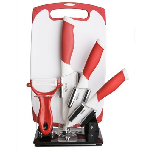 6 Piece Block Set Color: Red by New England Cutlery