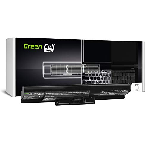 GC® PRO Serie Laptop Akku für Sony Vaio SVF1521T1E SVF1521T1EB SVF1521T2E SVF1521T2EB SVF1521T4E (Samsung SDI Zellen 2600mAh 14.8V Schwarz) -