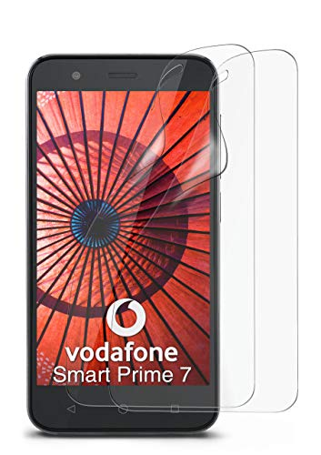 2X Vodafone Smart Prime 7 | Schutzfolie Matt Bildschirm Schutz [Anti-Reflex] Screen Protector Fingerprint Handy-Folie Matte Bildschirmschutz-Folie für Vodafone Smart Prime 7 Bildschirmfolie