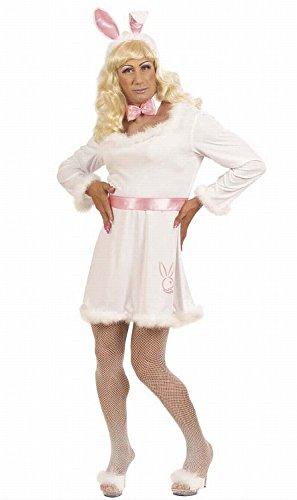 Widmann 5639R - Erwachsenenkostüm Bunny, Kleid, Gürtel, Kragen mit Fliege und Ohren, Größe (Halloween Drag Kostüme Queen)