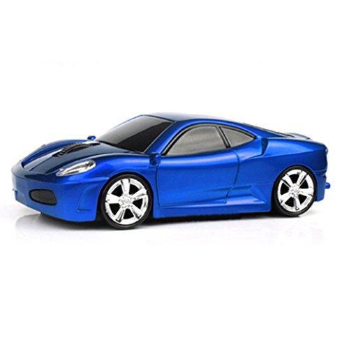 spectronix Ferrari F430geformte Kabelloser Sport Auto Maus Optische & Ergonomisches Design mit Nano-USB-Empfänger 10Meter Reichweite 2,4GHz Wireless Maus 1600dpi für Laptops und PCs 6lebhaften Farben (Pc-maus Auto)
