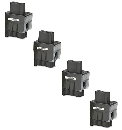 Prestige Cartridge LC900 / LC950 4-er Pack Druckerpatronen für Brother DCP-110C, DCP-115C, DCP-117C, DCP-120C, DCP-310C, DCP-310CN, DCP-315C, DCP-315CN, DCP-340CN, DCP-340CW, Fax-1835, Fax-1835C, Fax-1840C, Fax-1940, Fax-1940C, Fax-2240, Fax-2240C, Fax-310, MFC-210C, MFC-215C, MFC-3100, MFC-3240C, MFC-3240CN, MFC-3340CN, MFC-3342CN, MFC-410CN, MFC-420CN, MFC-425CN, MFC-430CN, MFC-5440CN, MFC-5540CN, MFC-5840CN, MFC-610CN, MFC-620CN, MFC-640CN, MFC-640CW, MFC-820CW, schwarz