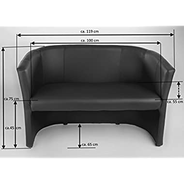H&S Design Bank 2 sitzer Cocktailsessel Sessel Clubsessel Loungesessel Club Möbel Bürosessel Praxismöbel weiß Neu