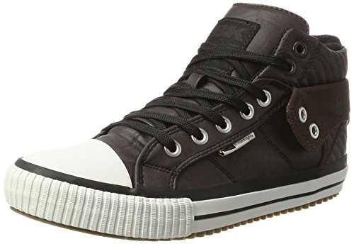 Schuhe Skater Tops High (British Knights Herren ROCO Hohe Sneaker, Braun (Dk Brown), 42 EU)